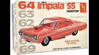 AMT 1964 CHEVROLET IMPALA SS 1/25 Model Kit Complete