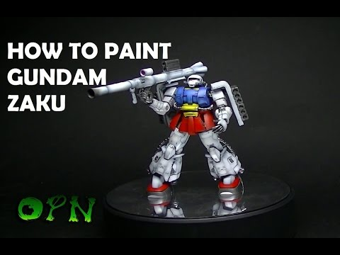 HOW TO PAINT A ZAKU IN RX78 SCHEME