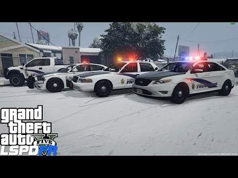 GTA 5 LSPDFR Police Mod 73 | Alaska State Trooper Patrol In The Snow | Meth Lab Bust Gone Wrong