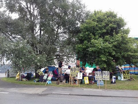 Claycross Eckington Against Fracking Slow Walk 05072017