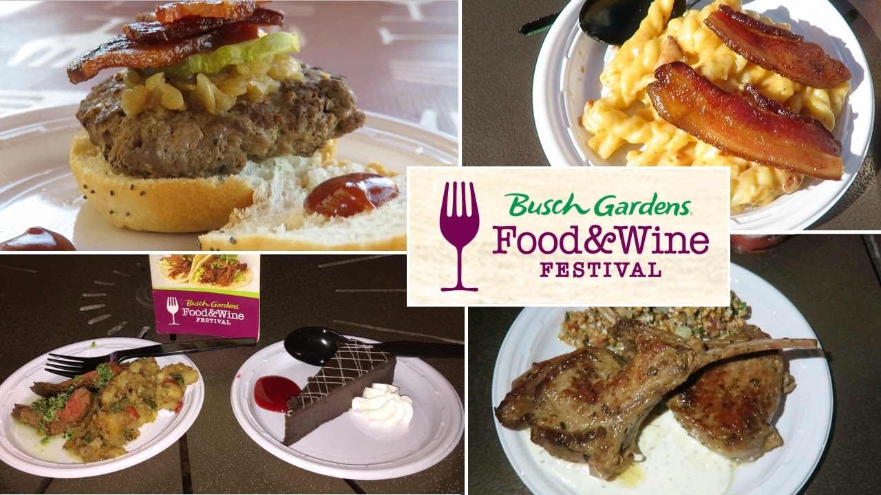 Busch Gardens Tampa Food Wine Festival Food Review Vlog Youtube