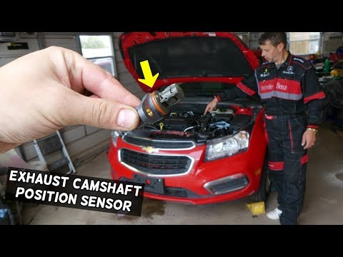 EXHAUST CAMSHAFT POSITION SENSOR REPLACEMENT LOCATION CHEVROLET CRUZE CHEVY SONIC