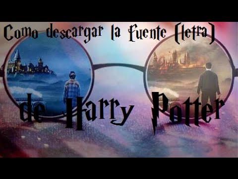 Tutorial: Cómo descargar la fuente de Harry Potter