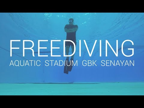 Freediving at Aquatic Stadium GBK, kolam renang senayan