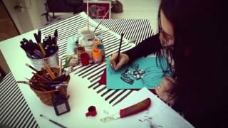 Эльвина Аюпова  занятия по fashion иллюстрации в Art Metier