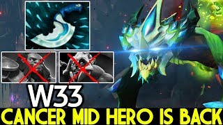 W33 [Viper] Cancer Mid Hero is Back with Blink Dagger Ganking 7.22 Dota 2