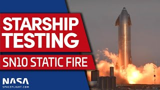 Starship SN10 Static Fire Test #2