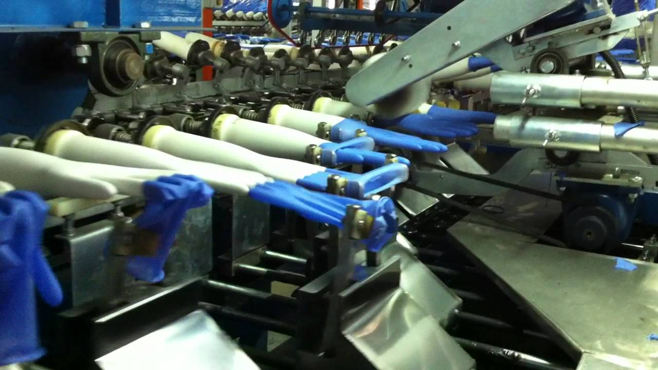 Gloves Removal Machines In Production Line Youtube