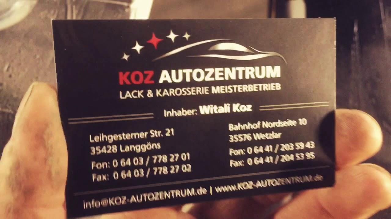 Koz Autozentrum Neue Visitenkarten Design In 3d Lack Druck Koz4life