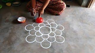 unique and creative rangoli design/innovative rangoli designs for diwali /best alpona