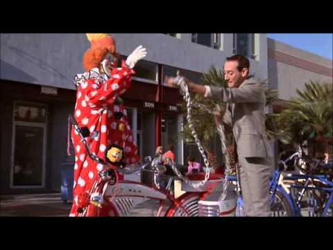 Pee-Wee Secures his Bicycle