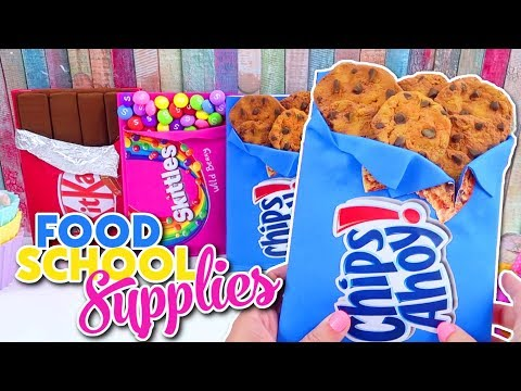 DIY FOOD SCHOOL SUPPLIES for Back to School 2017 | Easy & Cute | Isa's World