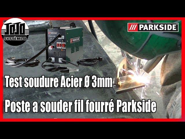 Poste A Souder Fil Fourré Parkside Test Soudure Acier 3mm