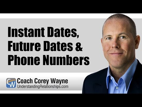 Instant Dates, Future Dates & Phone Numbers