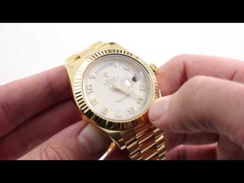 Rolex Oyster Perpetual Day-Date II 218138 Luxury Watch Review