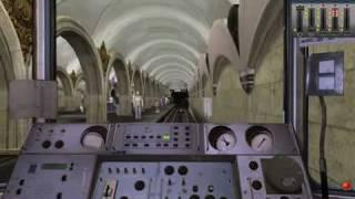 Trainz 2010. Метро. От Каховской до Речного Вокзала Часть 1(На