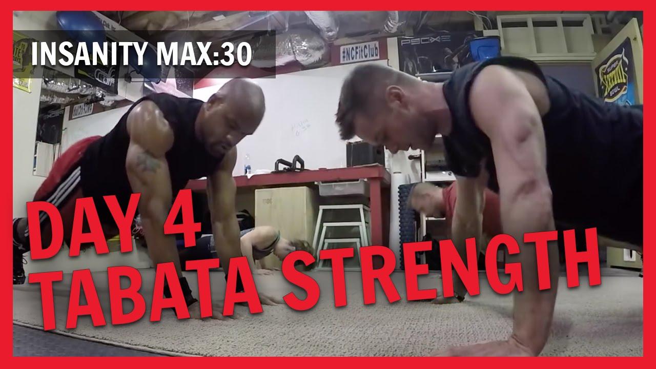 INSANITY MAX :30 Day 4 Tabata Strength  NC FIT CLUB
