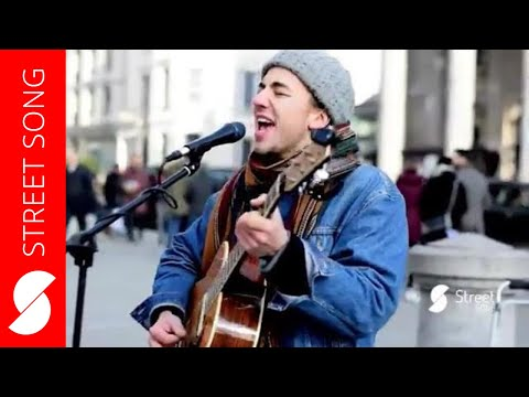 Street performer Jack Elliott sings Volcano by Damien Rice