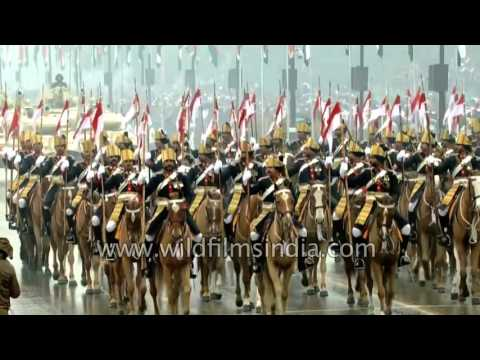Indian Army's 61st Cavalry Regiment parades on Rajpath, Delhi
