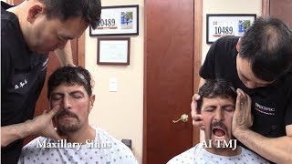 Construction worker with SINUS adjustment, TMJ, X-ray Analysis with Dr Suh Chiropractic