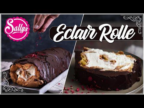 Eclair Rolle / Mit Vanillecreme & Schokolade 🍫 / Sallys Welt