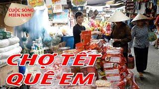 ĐI CHỢ QUÊ QUÁ VUI - 28 TẾT NGUYÊN ĐÁN 2018 | Nam Việt 585 - Du Lịch Miền Tây
