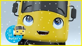 Buster Sees Snow For The First Time! | GoBuster Official |  ABCs and 123s | Nursery Rhymes