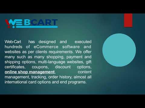 Web-Cart - Shopping Cart Solution, Online Shopping Software