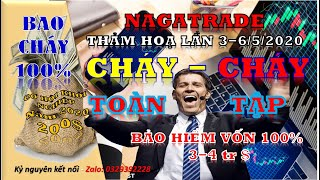 BAO CHÁY NGÀY 06/5/2020 - TEAM NAGATRADE- UY TÍN, TRÁCH NHIỆM | CLB LÃI XUẤT KÉP VÍP 3.