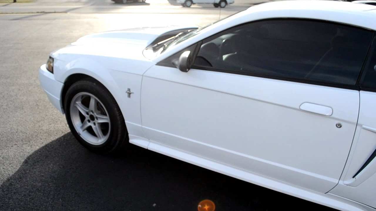 2012 Mustang V6 For Sale >> 2000 White Mustang V6 Coupe For Sale - $4195 (Sold) - YouTube