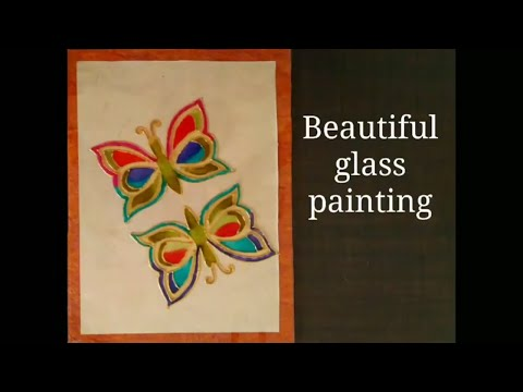Glass painting techniques for beginners | How to make glass painting design | glass painting ideas