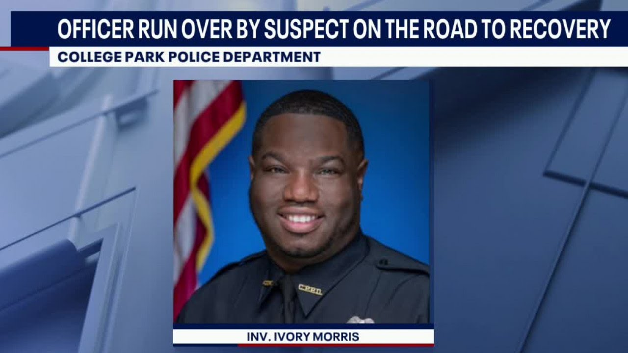 Georgia police officer run over by car recovering