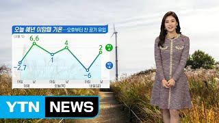 [날씨] 오늘 곳곳 눈·비...미세먼지 나쁨 / YTN