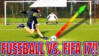 FUßBALL CHALLENGES vs. FIFA 17 CHALLENGES! ⚽⛔️⚽ FUSSBALL (DEUTSCH) - FIFAGAMING vs. WAKEZ!