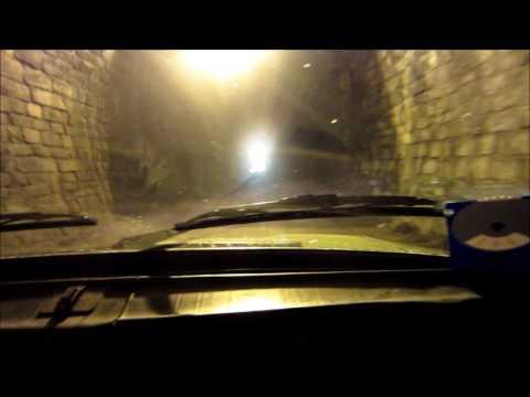 Slavíčský tunel - průjezd automobilem - 2017