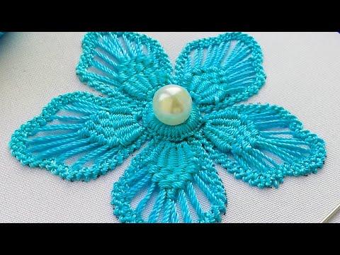 Макраме  вышивка * Румынское кружево * Цветок * Фантазия