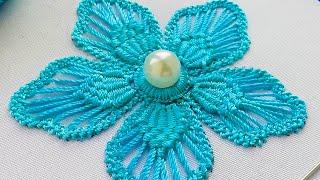 Макраме  вышивка * Румын�кое кружево * Цветок * Фантази�  #malina_gm
