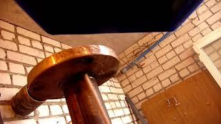 Как обварить фланец (потолочный шов)