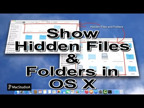 in mac how to make folder hidden