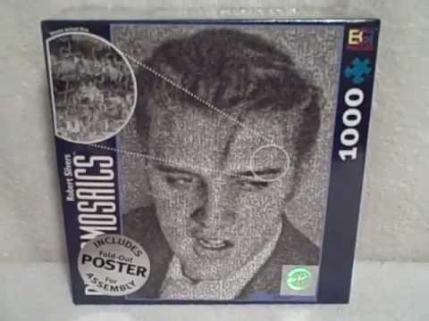 1000 Piece Jigsaw Puzzle Photomosaic Robert Silvers ELVIS PRESLEY New Unopened