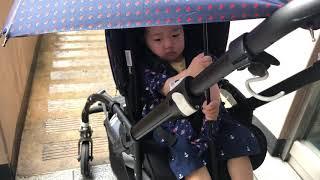 [육아] 비오는날 유모차에 우산사용 하는 방법. 맑은날…