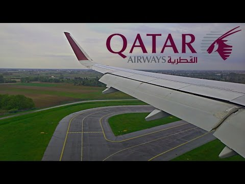 Landing at Warsaw Chopin Airport on Qatar Airways flight