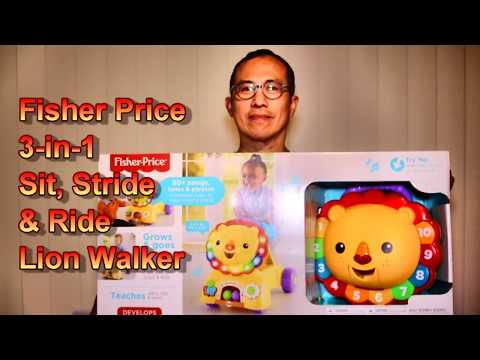 Fisher Price 3 In1 Sit, Stride & Ride Lion  Unboxing And Assamble