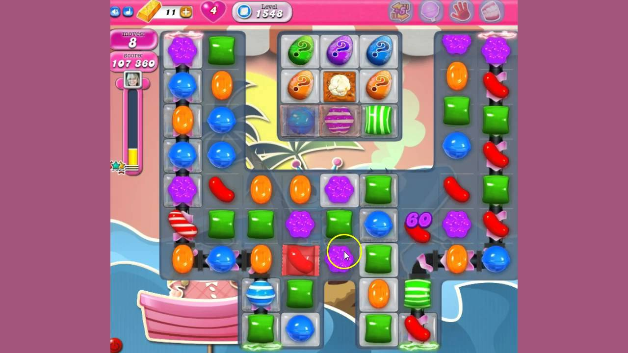 candy crush how to get back to my level