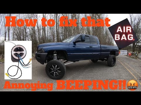 How to replace clock spring on 94-02 Dodge Ram. Fix annoying airbag beeping!
