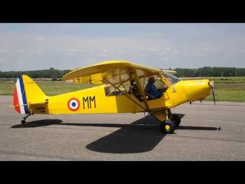 Piper PA19 F BOMM Castelnaudary LFMW 5 Août 2012
