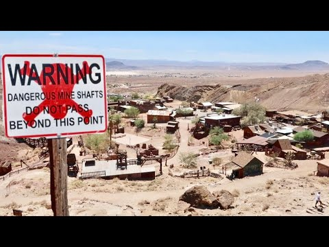 Calico Ghost Town - Old West Desert Village & Dangerous Mine Shafts