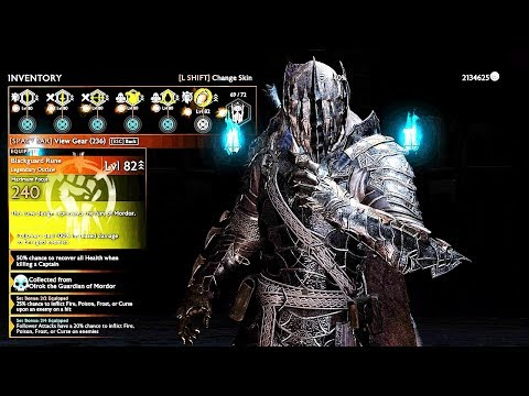 SHADOW OF WAR - NEW UNIQUE UNDYING BLOODLUST OVERLORD DIFFICULTY NEMESIS IN DESERT |