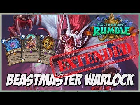 Beastmaster Warlock | Extended Gameplay | Hearthstone | Rastakhan's Rumble