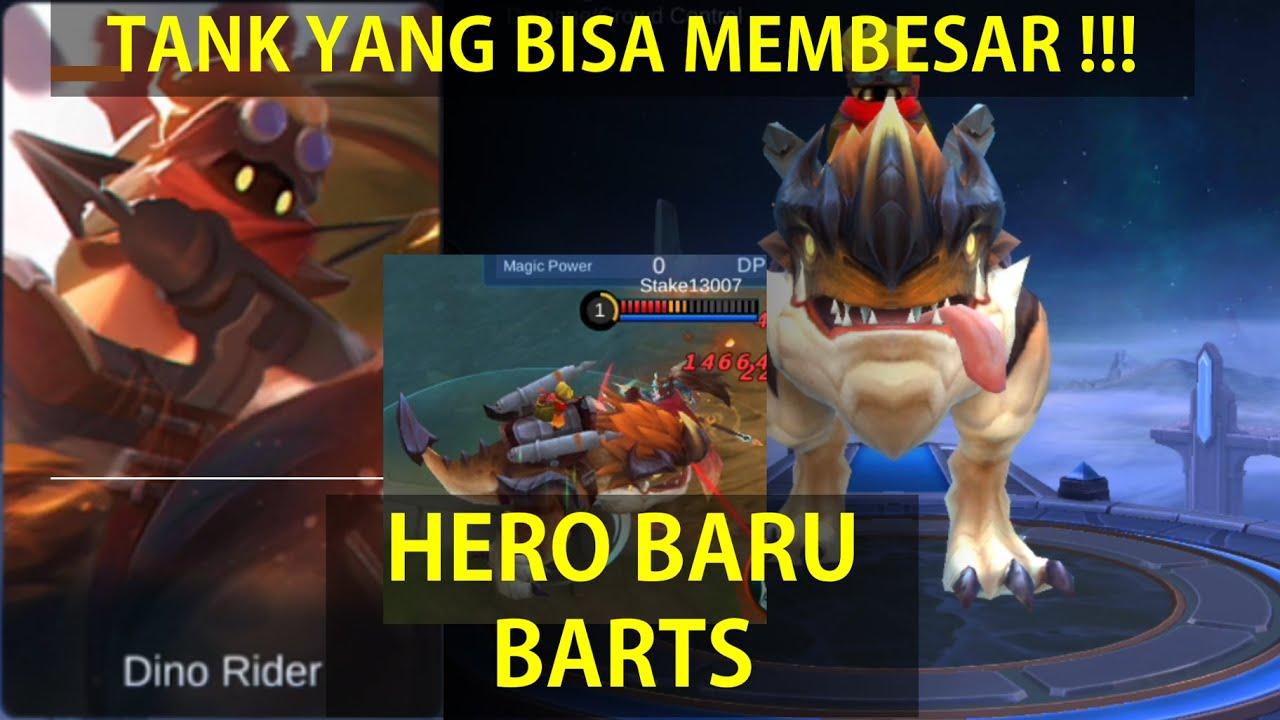 BARTS, HERO BARU MOBILE LEGENDS!!! TANK TERBESAR DI LAND OF DAWN!!! PENJELASAN DAN GAMEPLAY SKILL~